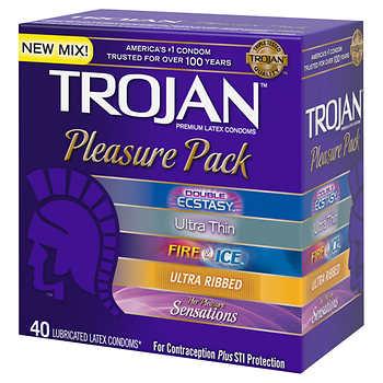 TROJAN Pleasure Pack, 40 Assorted Condoms $11.99