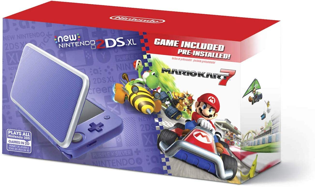 Nintendo 2DS XL - Purple + Silver With Mario Kart 7 Pre-installed $129 @ Amazon