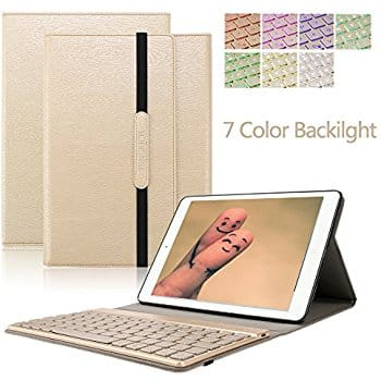 iPad 9.7 (2017 model) Case + Bluetooth Keyboard ( KVAGO Stylish 360 Degree Rotating Case with Detachable Wireless Bluetooth Keyboard) for $19.79 on Amazon Lightening Deal