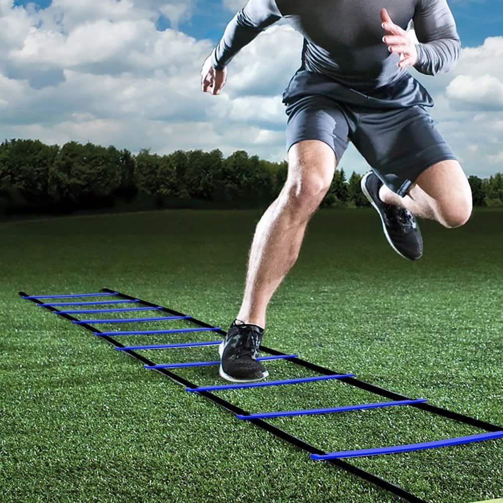 Pro Agility Training Ladder Speed Flat Rung with Carrying Bag $7.55 AC