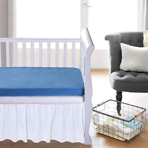 Tillyou 2 Pack Flannel/Cotton Crib Sheet for $5.95-$6.65 + Free Shipping
