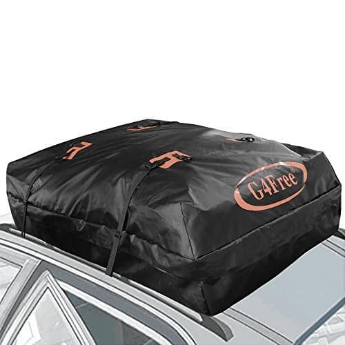 18.5 Cubic Ft Car Top Carrier with Wide Straps $29.69