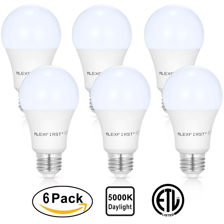 6-Pack A19 (75 Watt Equivalent) LED Light Bulbs $13.99