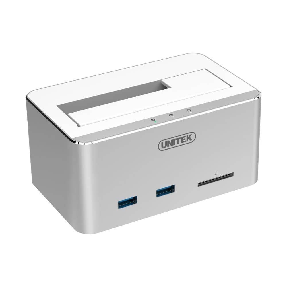 Aluminum USB 3.0 to SATA Hard Drive Docking Station $14.99 AC + Prime FS