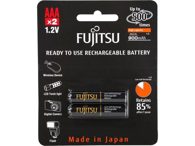 Fujitsu HR-4UTHCEX(2B) 2-Pack AAA High Capacity Ni-MH Pre-Charged Rechargeable Batteries $2.99@Newegg