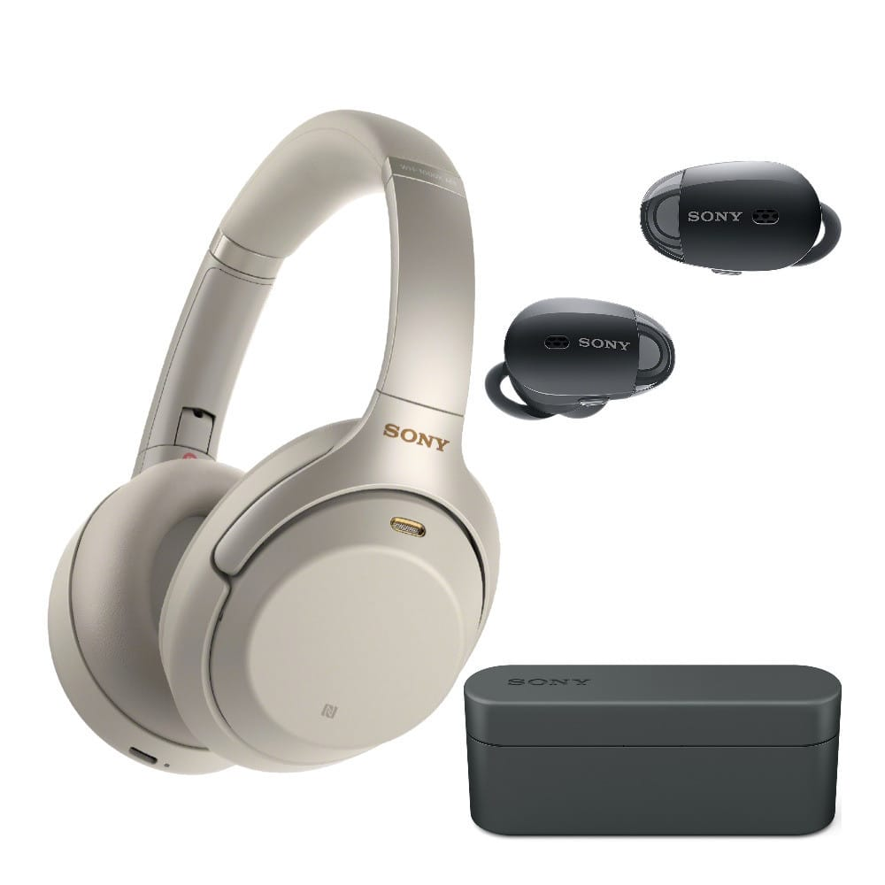 Sony WH-1000XM3 Wireless Noise-Canceling Over-Ear Headphones with Sony WF-1000X True Wireless NC Earbuds (Black) $348