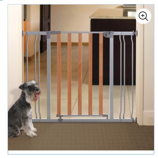 Dreambaby Cosmopolitan Gate Wood Door with Metal Frame $20