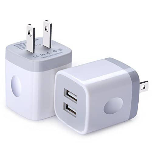2.1A Dual ports usb wall charger (2 pack) 6.99$