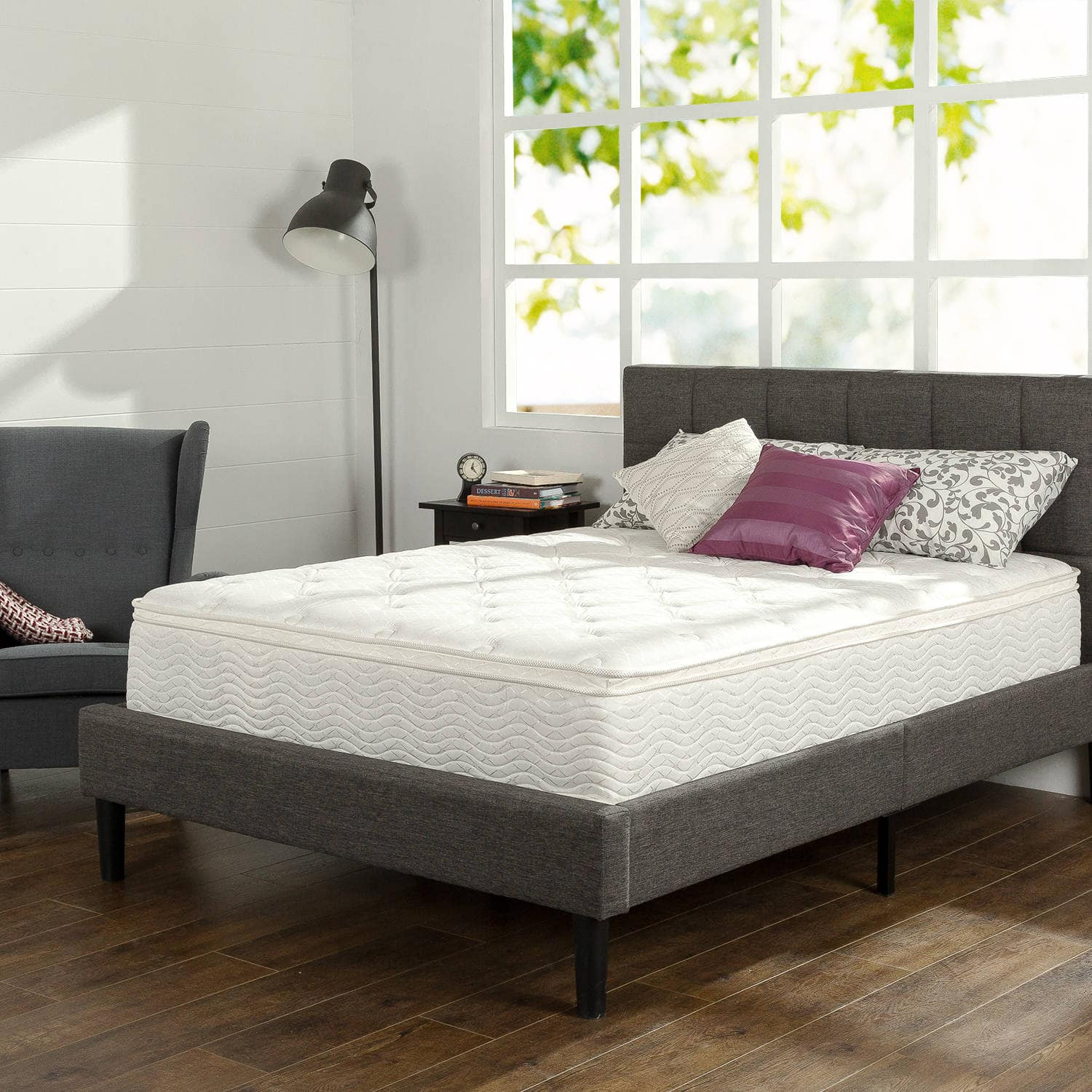 slumber 1 12 comfort euro box top spring mattress various sizes. Black Bedroom Furniture Sets. Home Design Ideas