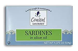 Coastal Gourmet Sardines in Olive Oil, 4.375 oz. (Pack of 12) $13 @ Amazon