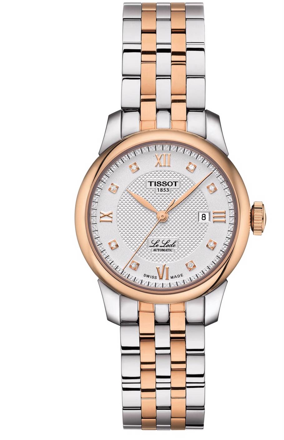 Tissot Le Locle automatic women's diamond bracelet watch 29mm $385
