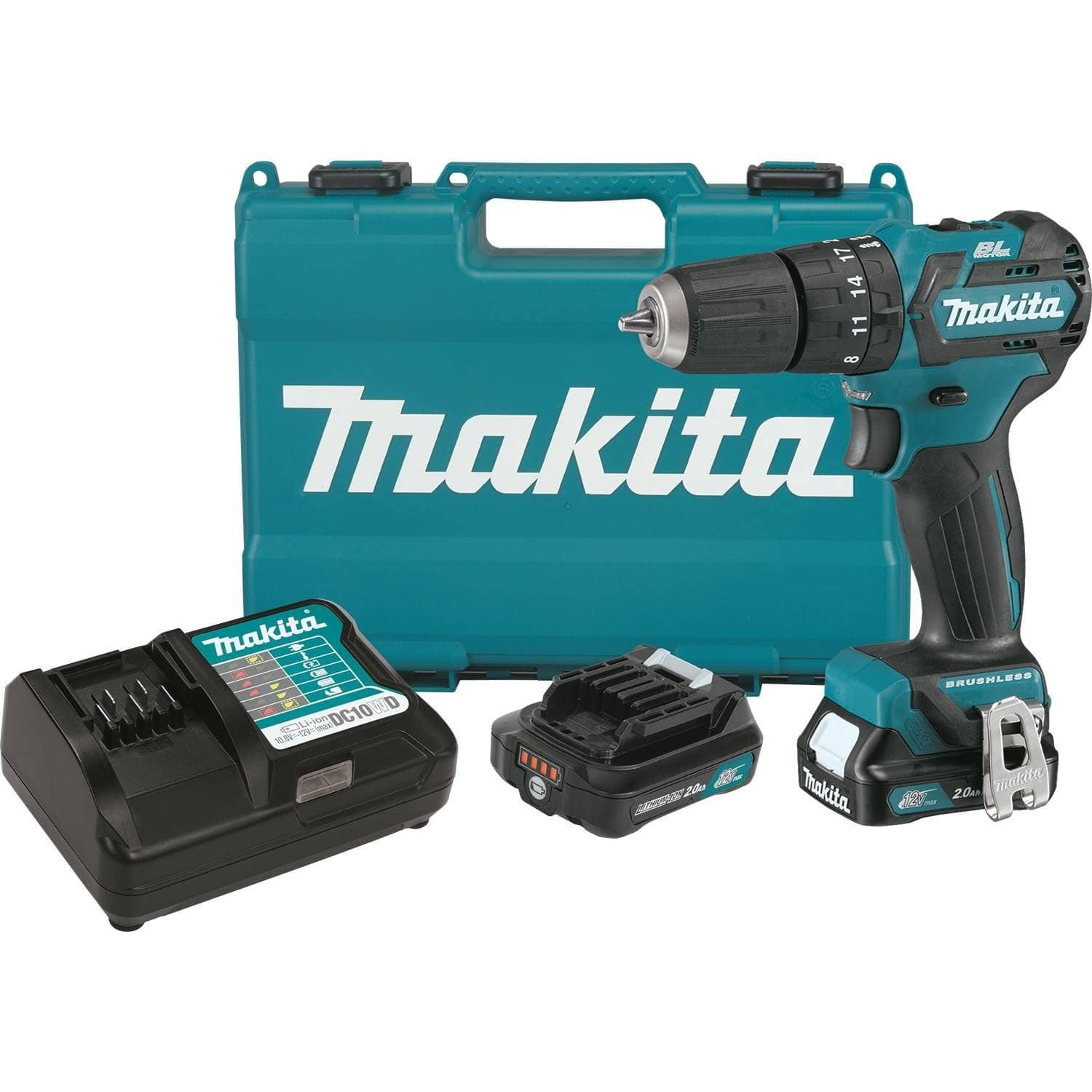 "Makita PH05R1 12V max CXT Brushless Cordless 3/8"" Hammer Drill-Driver Kit (2 x 2.0Ah Batteries) - $99.99 + FS"
