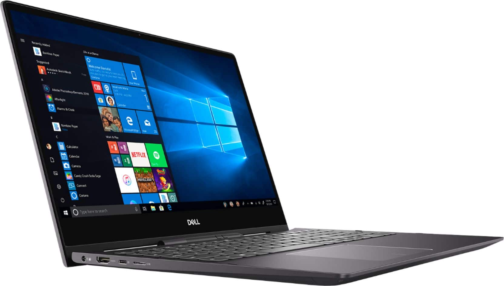 "Dell Inspiron 15.6"" 7000 2-in-1 4K Ultra HD Touch-Screen Laptop Intel Core i7 16GB GeForce MX250 512GB SSD + Optane Black I7590-7117BLK-PUS - Best Buy $1200"