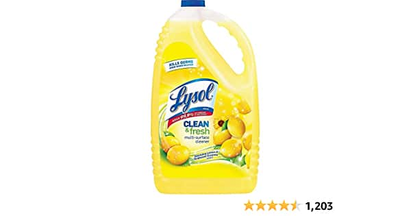 $15.30 Lysol Clean & Fresh Multi-Surface Cleaner, Lemon & Sunflower, 144oz (9lbs) via Amazon - $15.30