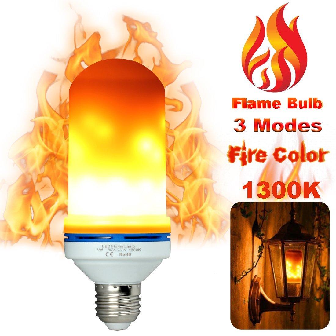 LED Flame Light Bulbs Fire Flicker Effect Lamp $8.99 @ Amazon