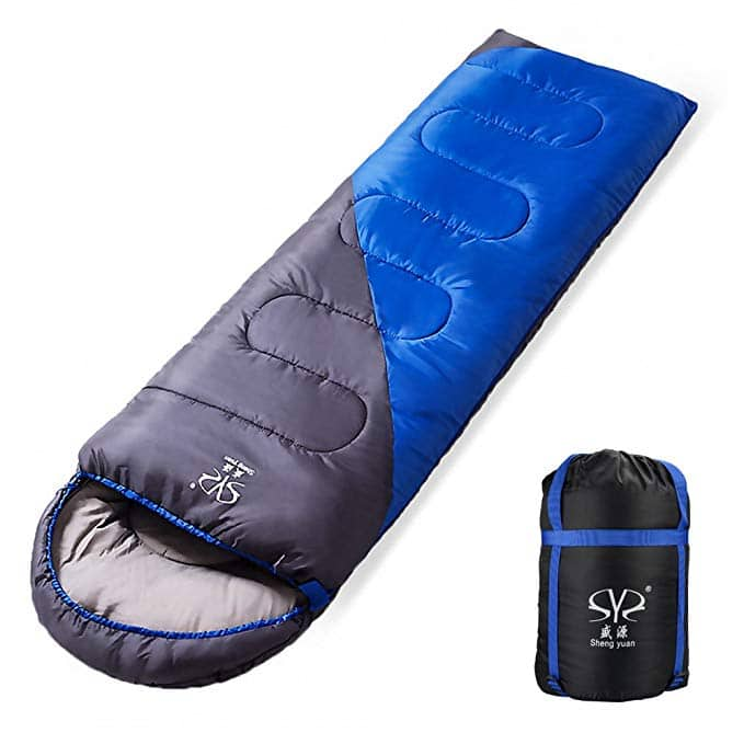 BicycleStore Camping Sleeping Bag Waterproof With Cap Comfortable Lightweight Portable Compression for Outdoors/Travel/Indoors Suitable for 3 Seasons $17.95