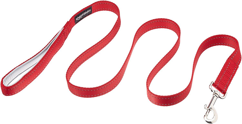 AmazonBasics Padded Handle Dog Leash - 4-Foot, Red $3.86