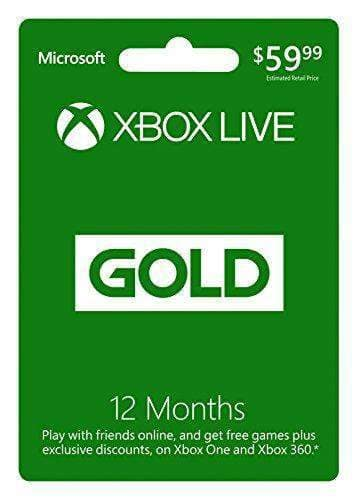 Xbox Live Gold 12 Month $45