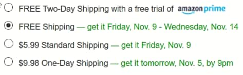 Free Standard Shipping on Amazon com (No Prime Needed