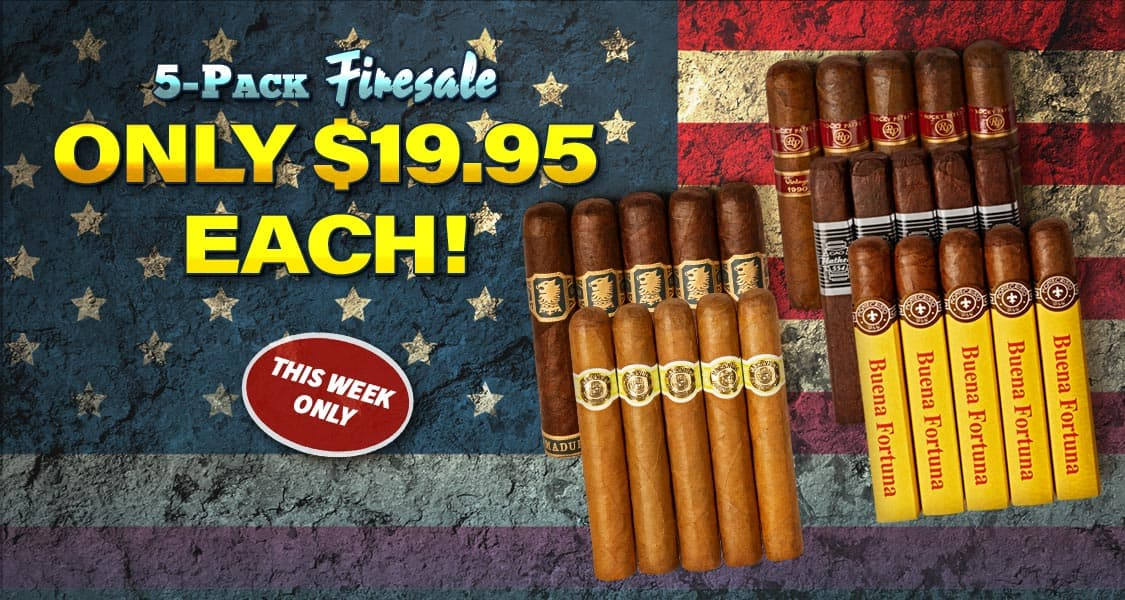 Cigars: Firesale 5-packs Under $20 (SeriousCigars.com), Over 200+ packs to choose from this week only!
