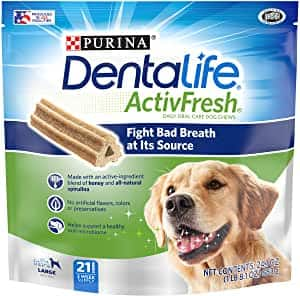 Purina DentaLife Adult Large Breed Adult Dental Dog Chew Treats - Amazon - $7.48 - $5.24