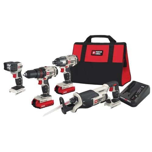 porter cable 3-tool 20-volt max lithium ion cordless combo kit ...