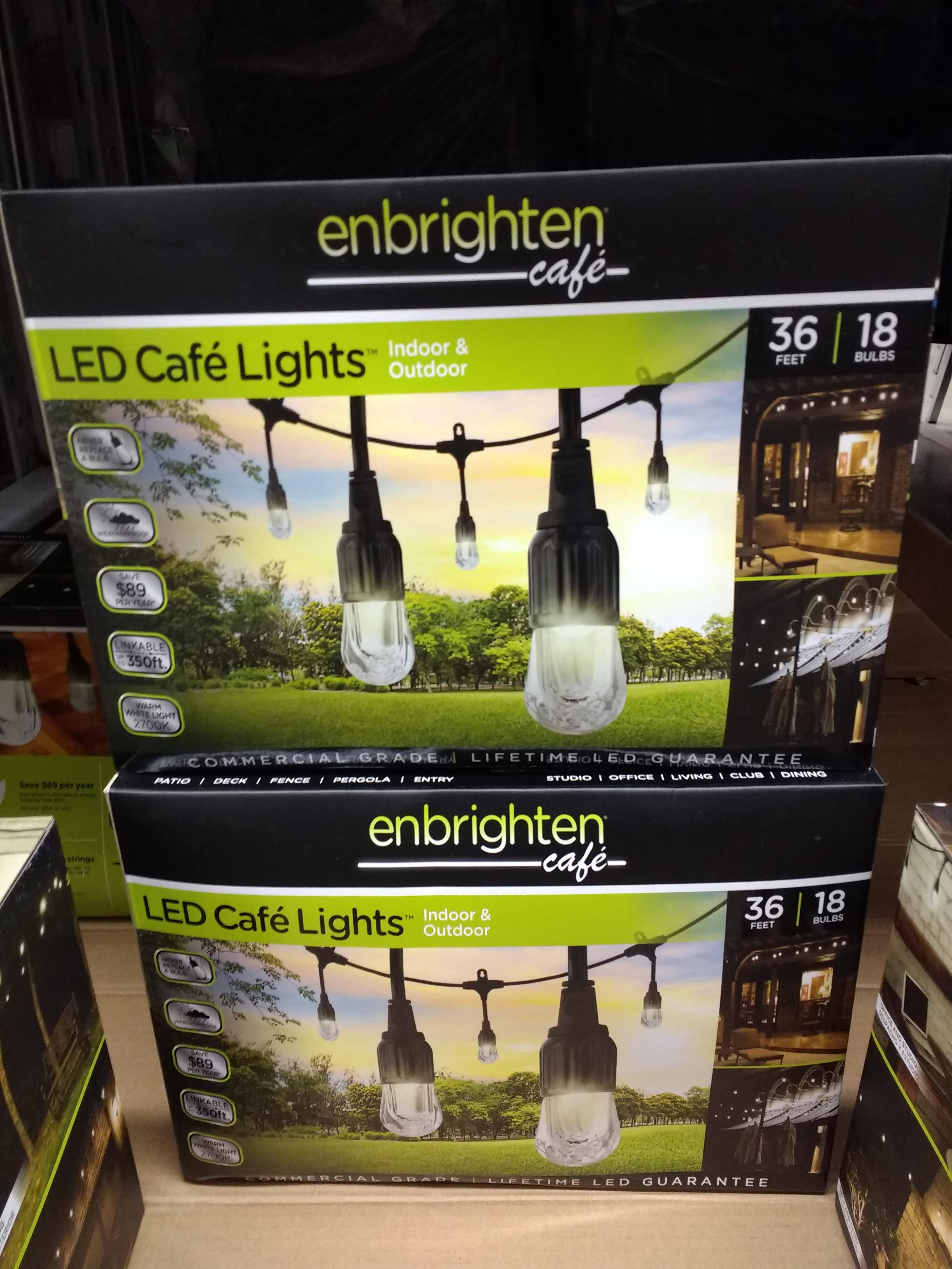 Enbrighten 36' Strand LED Acrylic Café String Lights (18 bulbs) - $9.91 @ SamsClub B&M (End of Season Clearance - YMMV)