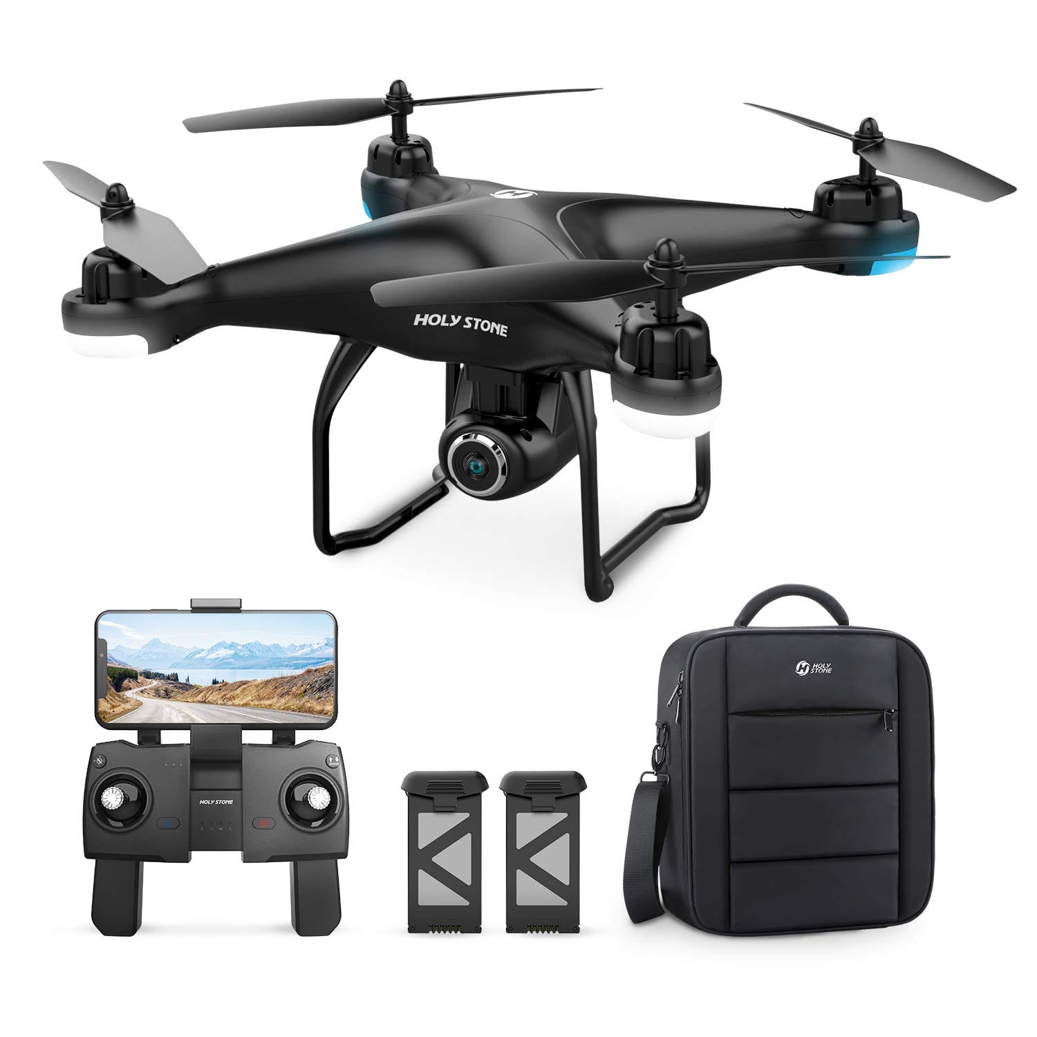 Holy Stone HS120D GPS Drone with Camera 1080p HD FPV, Includes 2 Batteries and Carrying Backpack $149.99
