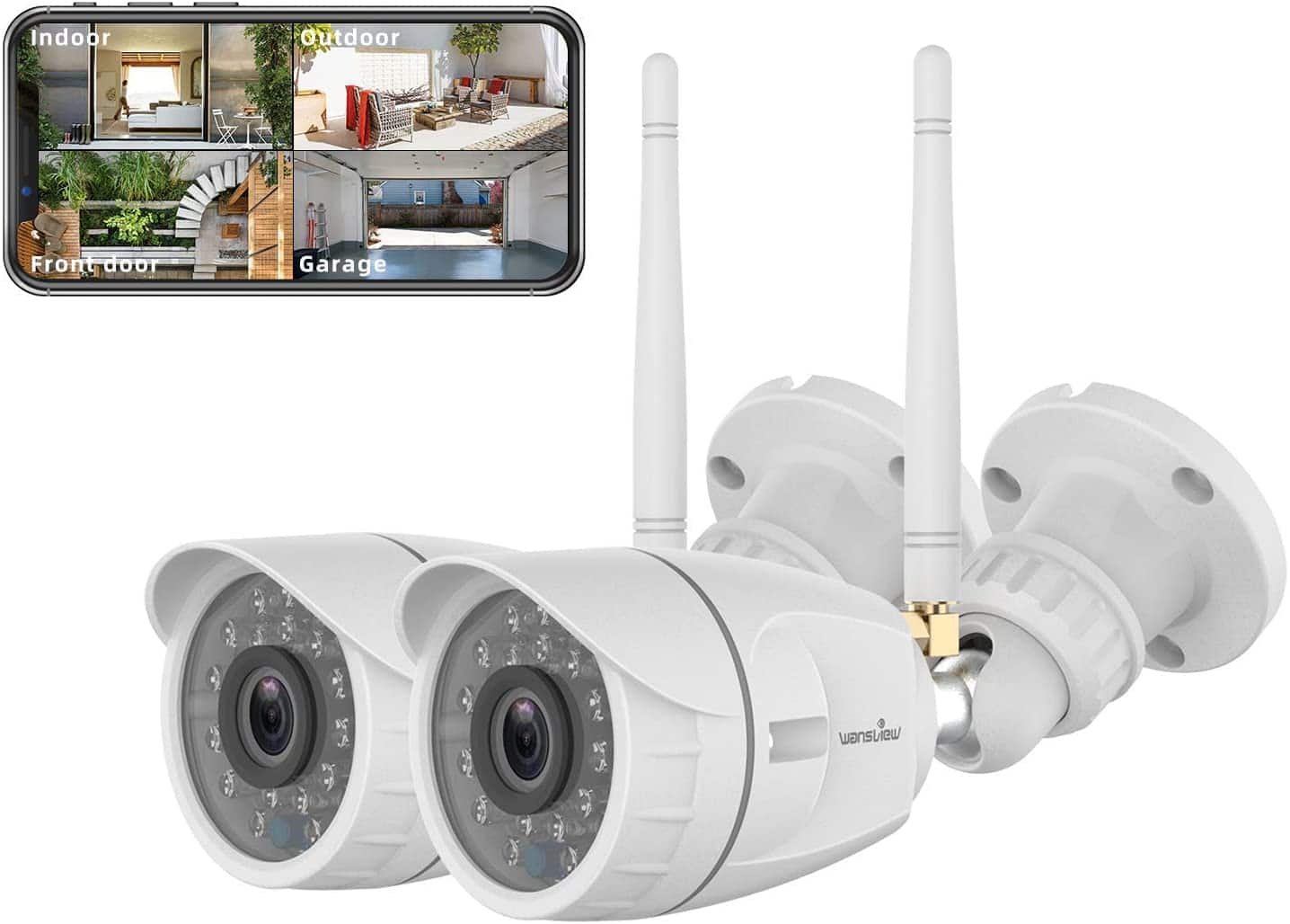 Wansview Outdoor Security Camera ( 2pack) $41.99+ free Shipping