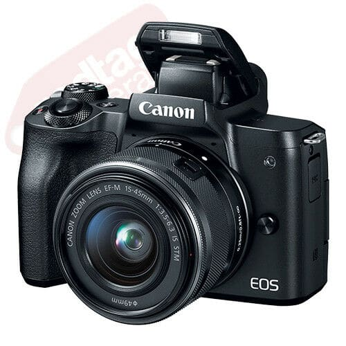 Canon EOS M50 Mirrorless Digital Camera with 15-45mm EF-M IS STM Lens Black $499