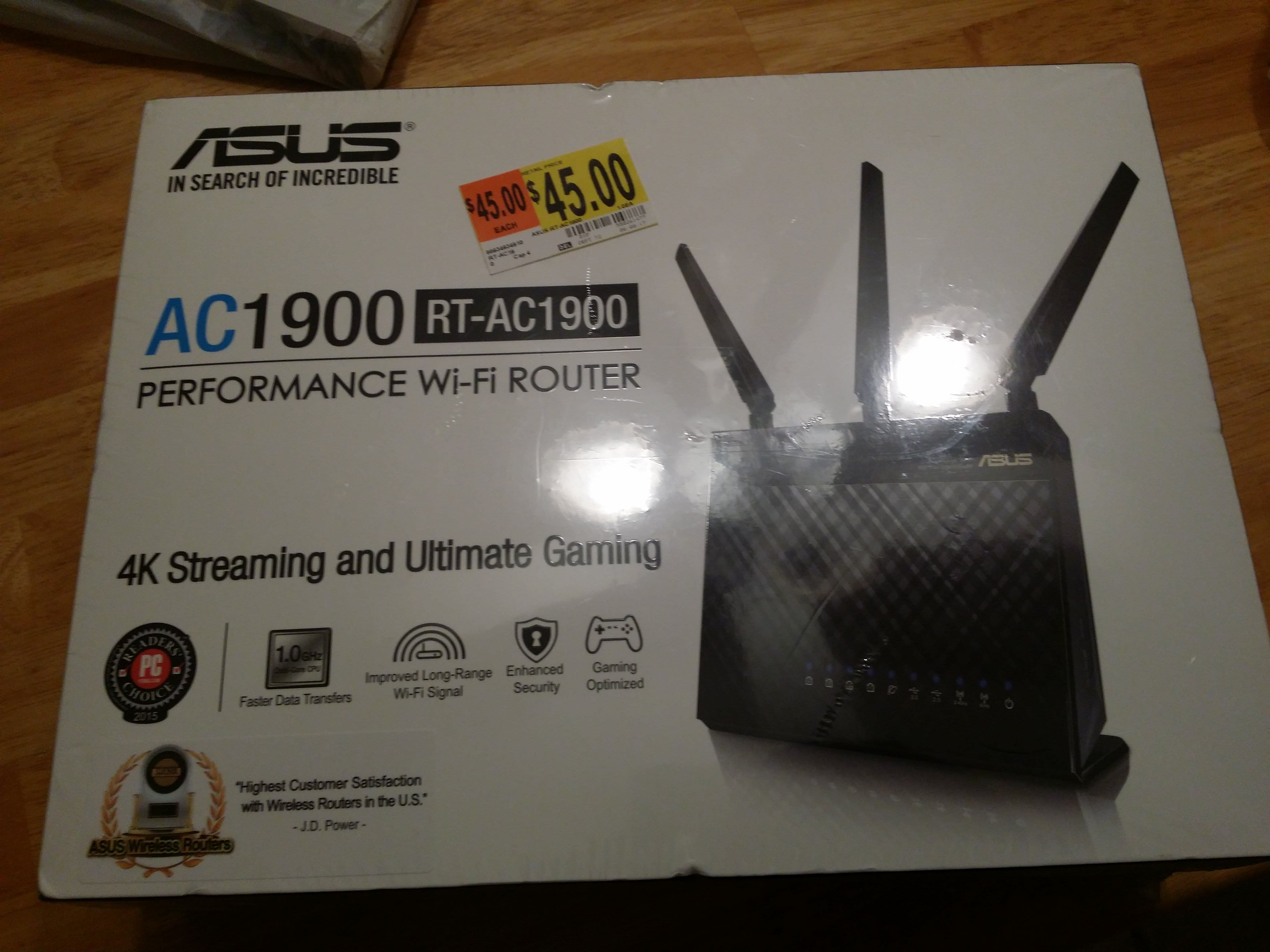 Asus RT-AC1900 Router for $45 B&M YMMV
