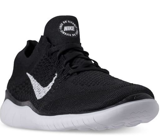 c7878ad9393 Nike Men s Free RN Flyknit 2018 Running Sneakers (Black White ...