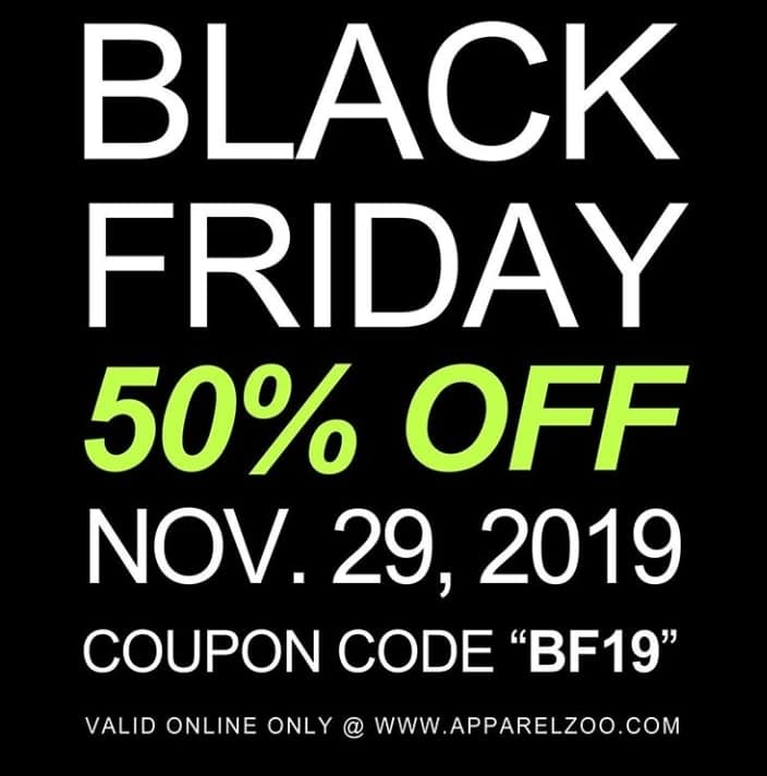 Apparel Zoo online sale: 50% off when when you spend over $150