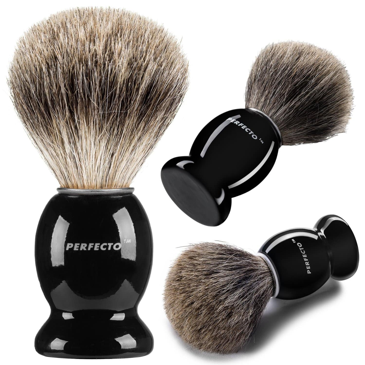 Amazon - Perfecto 100% Pure Badger Shaving Brush With Black Handle-Engineered- Final Price AC with Prime - $8.95