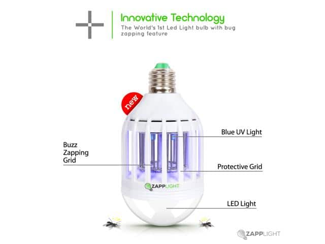 Newegg -Zapplight- 110 Volts, Dual Lightbulb and Bug Light Zapper, Zap Mosquitoes  Flying Insect Killer for $18.99