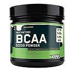 60-Serving Optimum Nutrition BCAA 5000 Unflavored Powder  $16.85