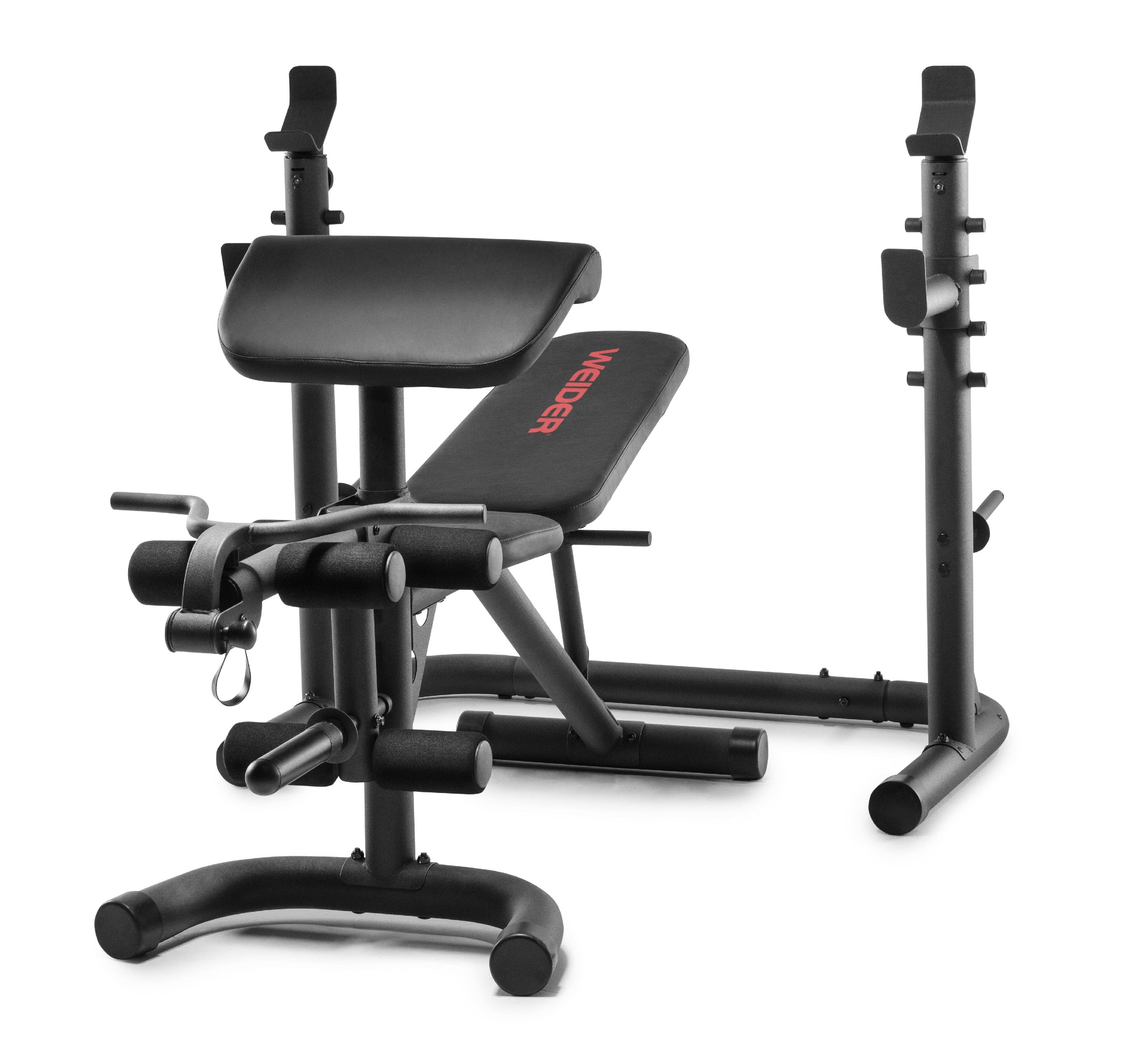 Weider XRS 20 Olympic Workout Bench with Independent Squat Rack and Preacher Pad + Free Shipping $199