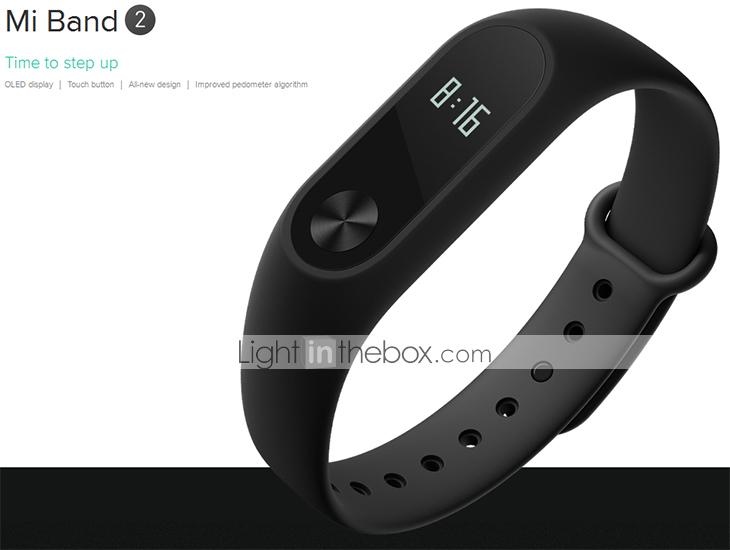 Xiaomi Mi Band 2 Heart Rate Monitor Smart Wristband $26.49 Free Shipping