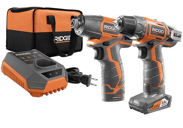 Ridgid 12v drill driver and impact combo kit
