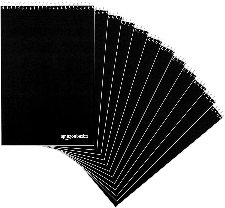 "Amazon Basics Steno Books, 6"" x 9"", Gregg Rule, Green Paper, 80 Sheets, 12-Pack - $14.47"