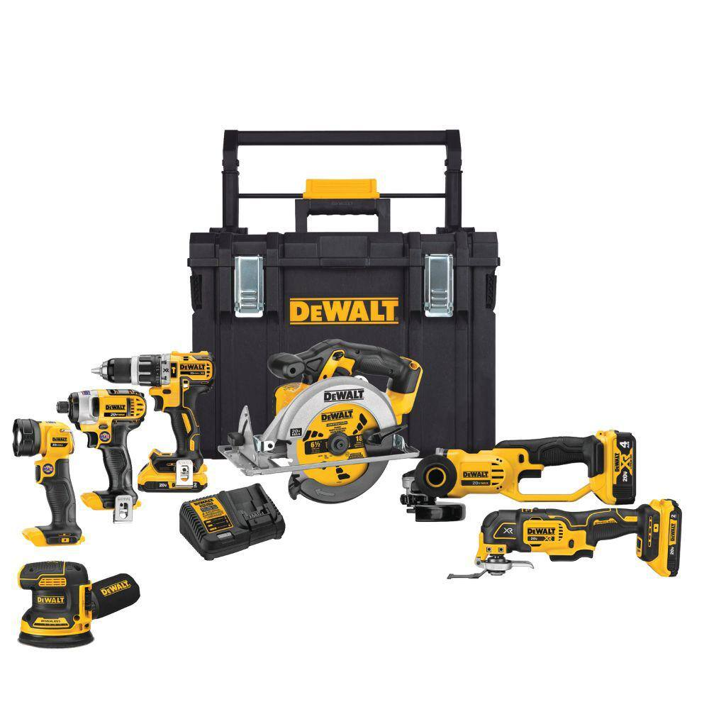 DEWALT 20-Volt MAX Lithium-Ion Cordless Combo Kit (7-Tool) with ToughSystem $499