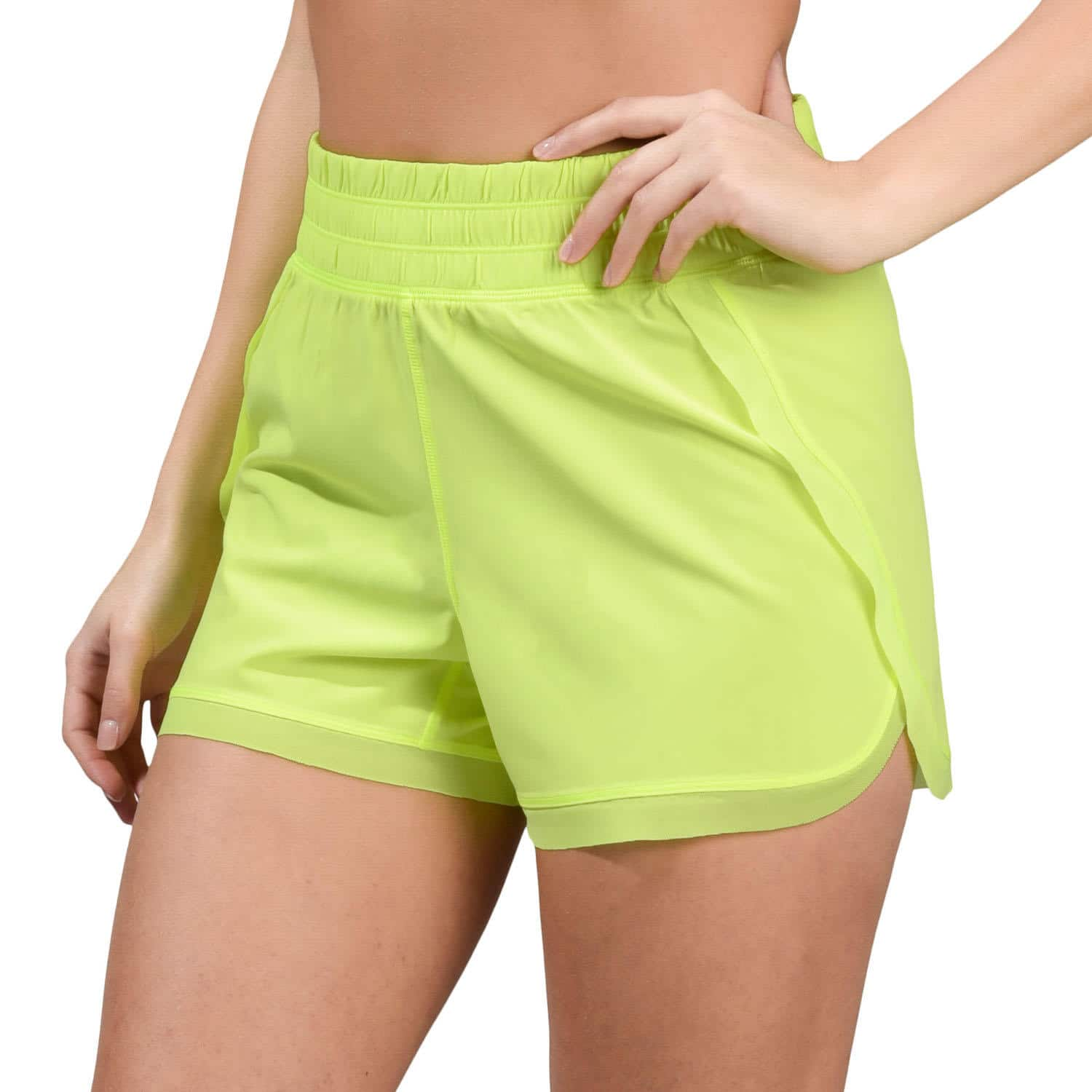 90 Degree by Reflex Woven Shorts with Mesh Contrast $7.97