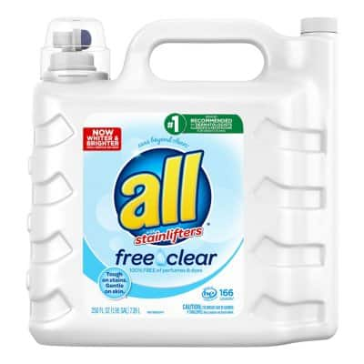 all 2X Ultra with Stainlifter Free & Clear (166 loads, 250 oz.) $10.65