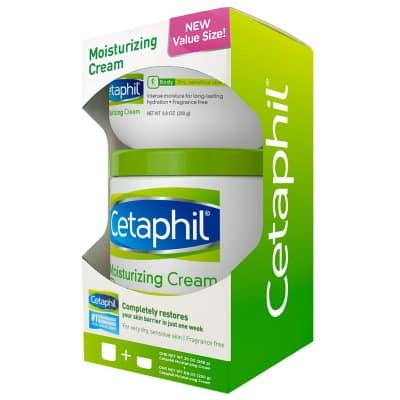 Cetaphil Moisturizing Cream for Very Dry, Sensitive Skin, Fragrance Free (20 oz. and 8.8 oz., 2 pk.) $10.98