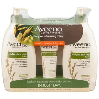 Aveeno Daily Moisturizing Lotion (18 fl. oz., 2 pk. with 2.5 oz. Tube) $10.88