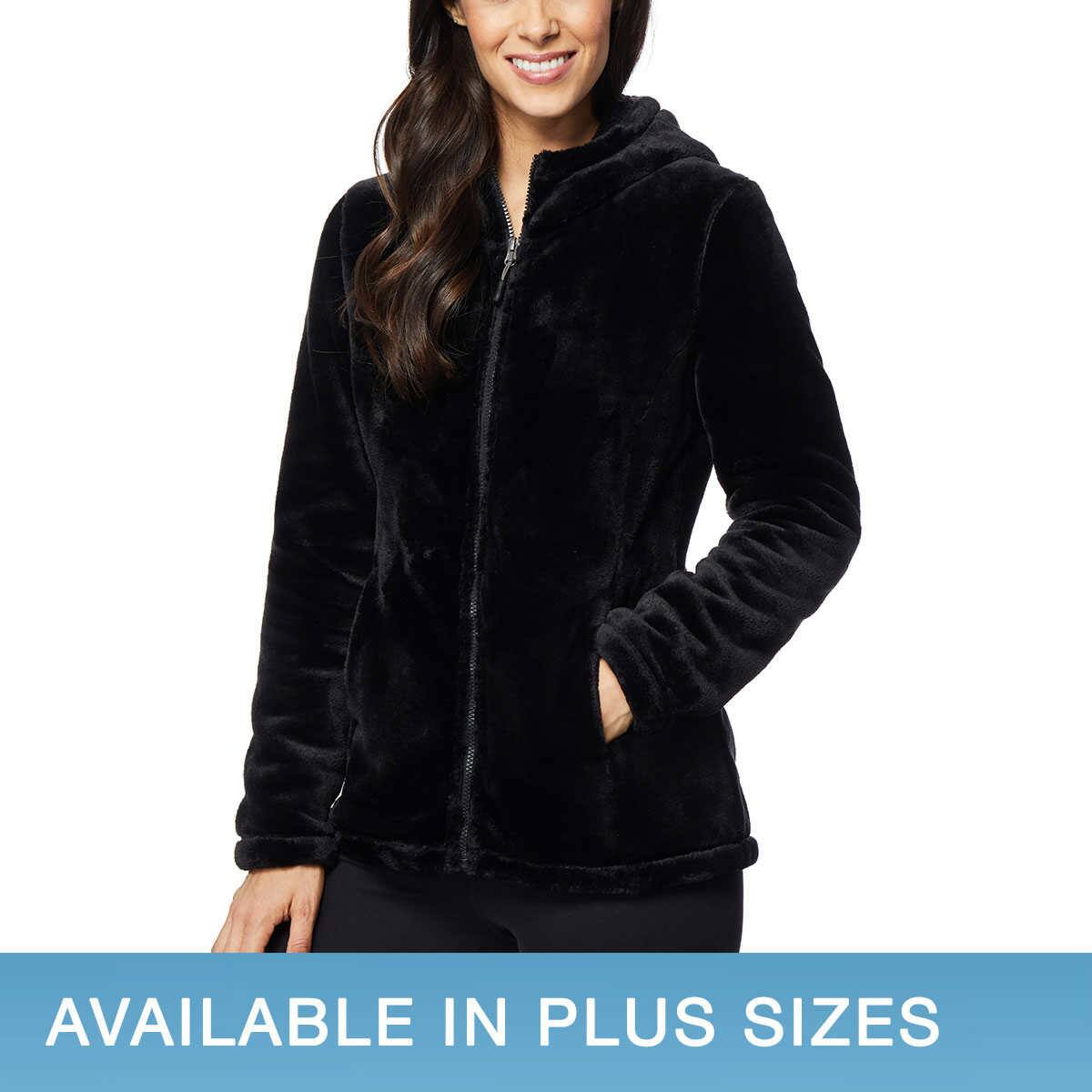 32 Degrees Ladies' Plush Jacket with Hood $13