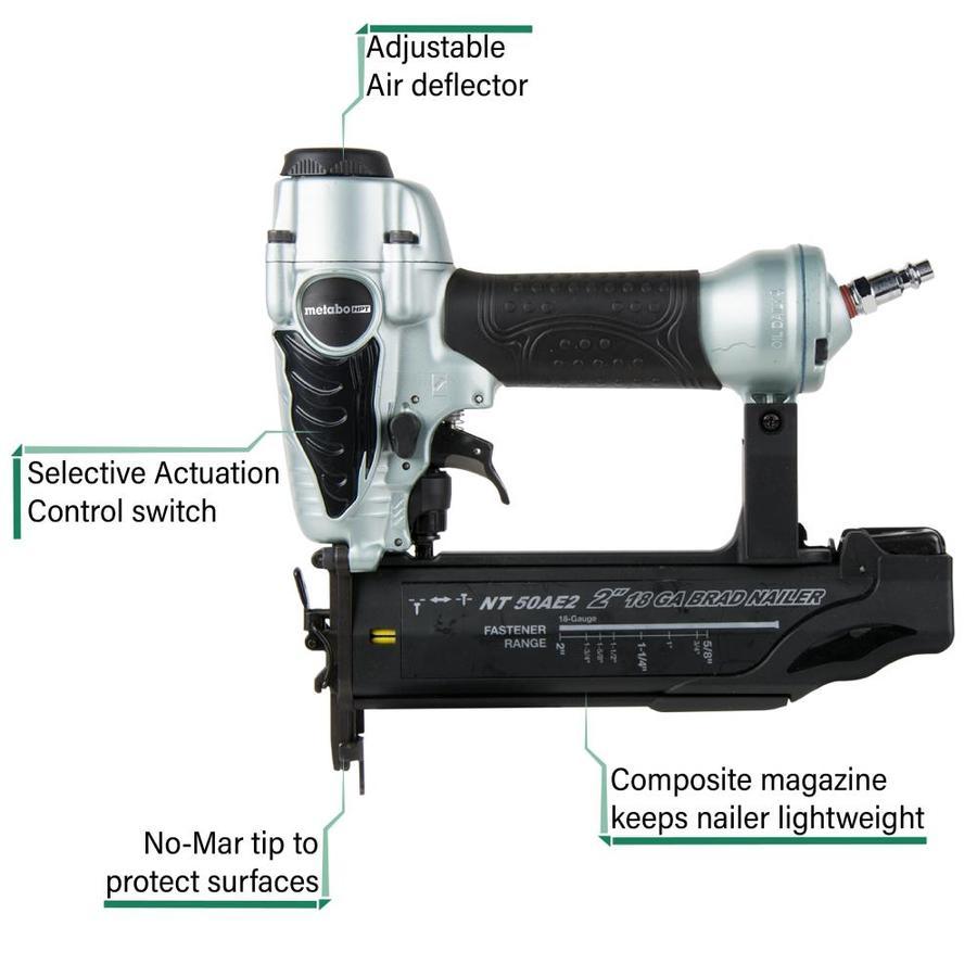 Metabo HPT (was Hitachi Power Tools) 2-in 18-Gauge Pneumatic Brad Nailer $49.97