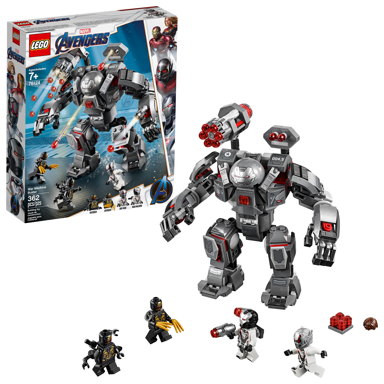 LEGO Marvel Avengers War Machine Buster 76124 Superhero Mech Building Toy (362 pieces) $24.53