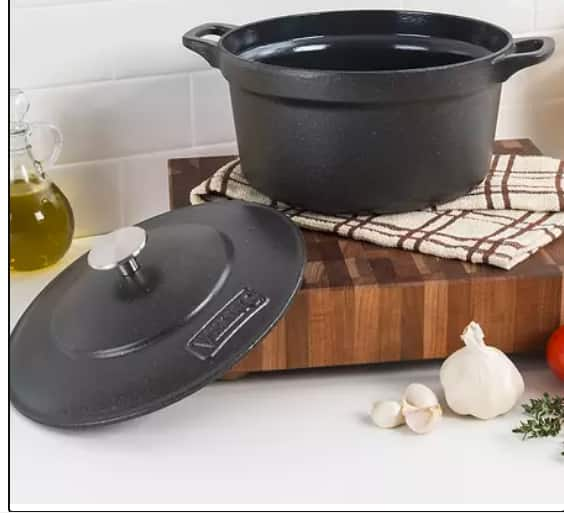 Viking 5-Quart Enameled Cast Iron Dutch Oven, Charcoal Gray $44.97