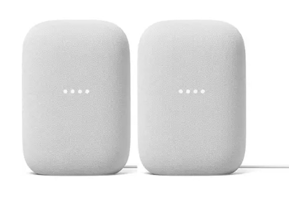 Google Nest Audio Chalk (2 Pack) $139.98